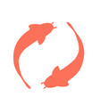 coral koi fish logo vector image vector image