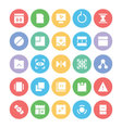 Design and Development Icons 7 vector image vector image