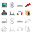 design of laptop and device symbol set of vector image vector image