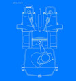 diesel engine blueprint vector image
