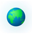 earth in form a globe earth planet icon vector image vector image