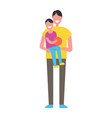 fathers day poster dad hold son on arms fatherhood vector image