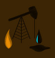 flat shading style icon gas and oil production vector image