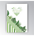 floral geometric page decoration for web and vector image vector image