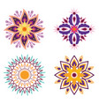 flowers floral mandalas hindu culture traditional vector image vector image