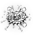 football pop art retro style vector image vector image