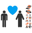 gay lovers icon with love bonus vector image