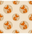 Graphically foxes in cartoon style vector image