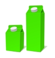 green paper milk product container set vector image vector image