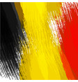 grunge background in colors of belgian flag vector image vector image