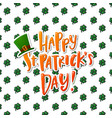 hand drawn calligraphy happy st patrick s day vector image vector image