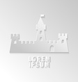 Icon flat element design castle vector image vector image