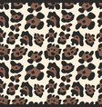 leopard pattern seamless background vector image vector image