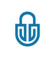 lock abstract logo icon vector image vector image