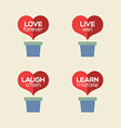 Love Live Laugh Learn Heart Plants vector image vector image