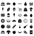 milk icons set simple style vector image vector image