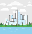 Modern city district Buildings in perspective vector image vector image