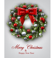 New Year and xmas card vector image vector image