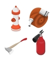 Objects to deal with dangerous situations vector image