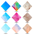Polygon banners colors set vector image vector image