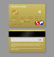 realistic detailed credit card vector image vector image