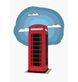 Red telephone box - London UK vector image