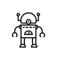 robot android technology character artificial vector image