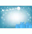 santa claus with blur bokeh background christmas vector image