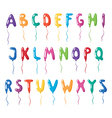 Set of alphabet balloons vector image