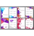 set of flyers brochures abstract design 2 vector image vector image