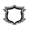 shield ornament badge vector image vector image