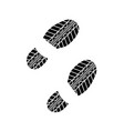 shoes tire track vector image vector image