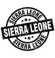 sierra leone black round grunge stamp vector image vector image