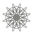 simple mandala shape for coloring an ideal vector image