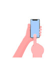 smartphone hand voice assistant modern flat vector image vector image
