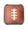Square icon for rugby app or games vector image vector image