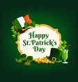 st patrick day cartoon frame or banner vector image vector image