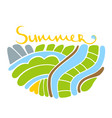 summer logo colorful logo earth vector image vector image