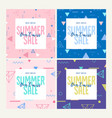 summer sale set website sale banner templates vector image