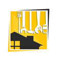 symbol for home renovation vector image vector image