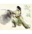 Taiji Tai Chi An hand drawn converted into vector image