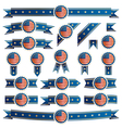 usa ribbons vector image vector image