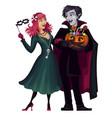 vampireshalloweencostumemasquerade vector image