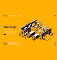 warehouse storage logistic infrastructure vector image vector image