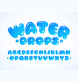 water grpos alphabet vector image