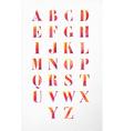 Watercolor alphabet font set vector image