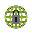 web protection padlock vector image vector image