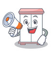 with megaphone cabinet character cartoon style vector image vector image