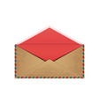 vintage opened envelope vector image