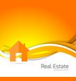 real estate orange brochure vector image